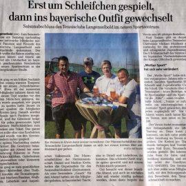 Pressebericht GNZ 26.09.2016: Erst um Schleifchen gespielt, dann ins bayrische Outfit gewechselt