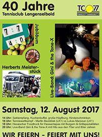 Jubiläumsfeier am 12. August ab 14:00 Uhr: 40 Jahre TC77 Langenselbold!